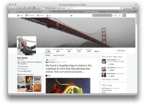 twitter page set up