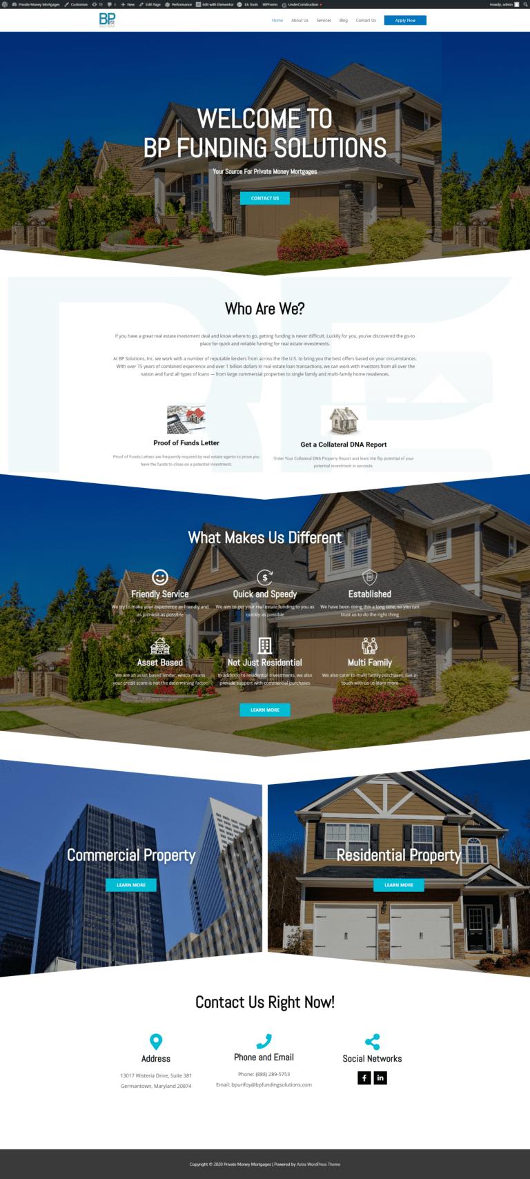 Estate Agents Website Design