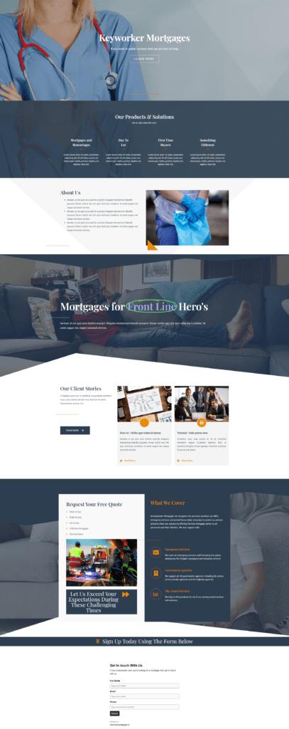 Mortgage broker website