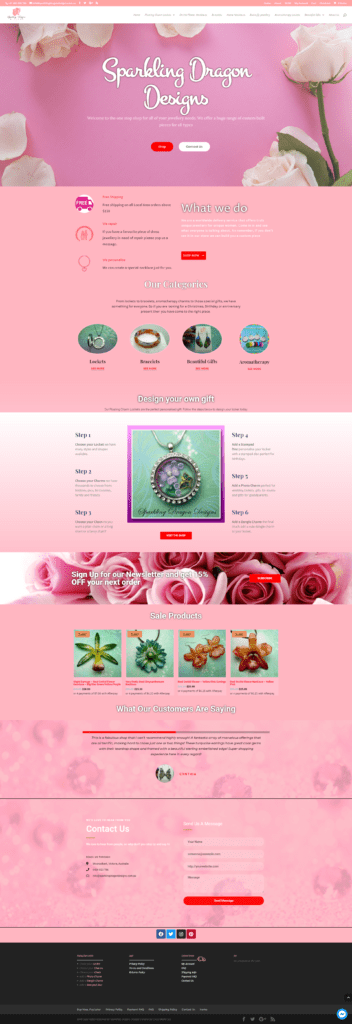 Boutique Jewelry Website
