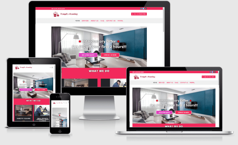 Clean company web design