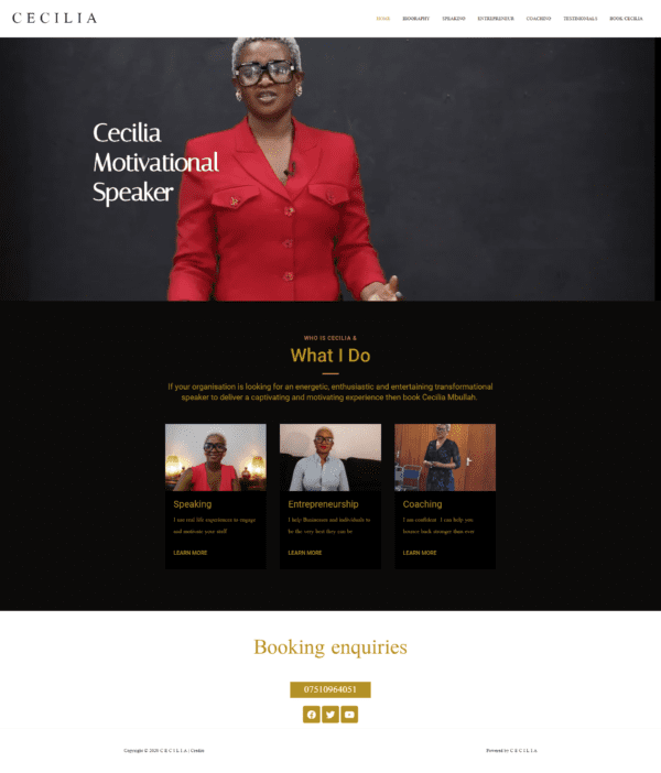 Motivational Speaker Website