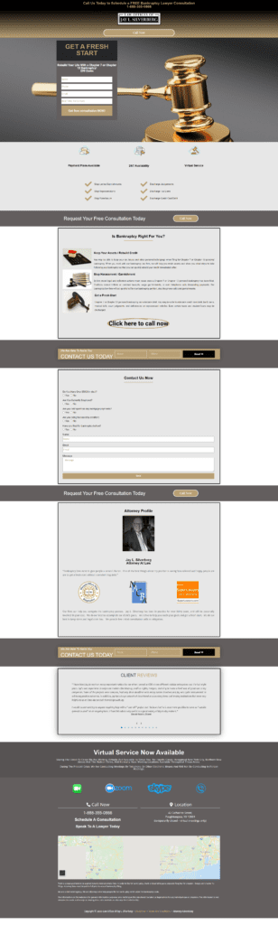 Lawyer website design